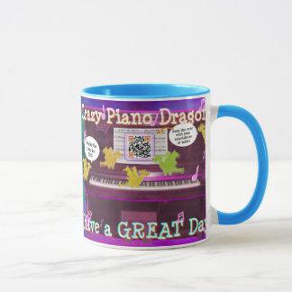 Verrückte Klavier-Drachen sagen haben eine großer Tasse