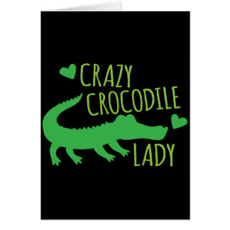 Verrückte Krokodil-Dame Grußkarte