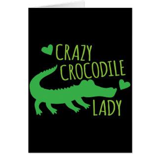 Verrückte Krokodil-Dame Karte