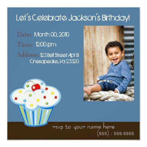 Verrückte Kuchen-Einladung Quadratische 13,3 Cm Einladungskarte