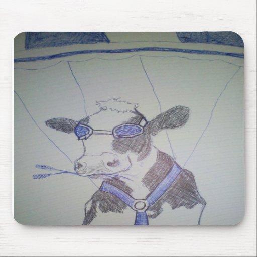Verrückte Kuh Mousepads