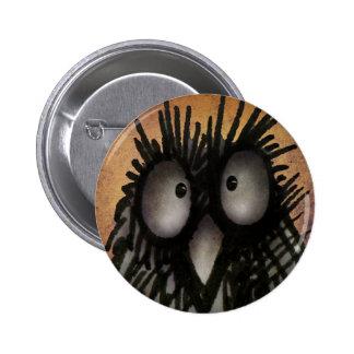 Verrückte lustige Nachteulen-Kunst für Runder Button 5,7 Cm
