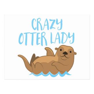 verrückte Otterdame niedlich! Postkarte