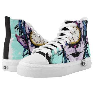 Verrückte Pastellzyklop-Schuhe Hoch-geschnittene Sneaker