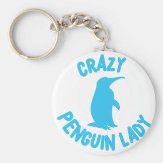 verrückte Pinguindame Schlüsselanhänger