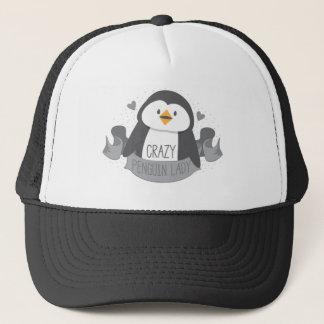 verrückte Pinguindamenfahne Truckerkappe
