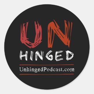 Verrückte Podcast-Aufkleber Runder Aufkleber