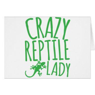 verrückte Reptildame Karte