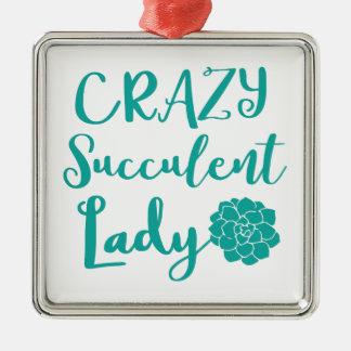 verrückte saftige Dame Silbernes Ornament