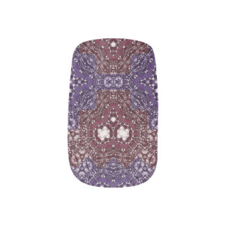 Verrückte schöne abstrakte Minx-Nägel Minx Nagelkunst