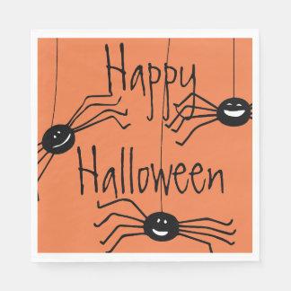 Verrückte Spinnen Halloween Serviette