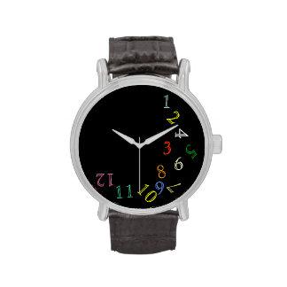 verrückte Stundenfarbzahlen Handuhr
