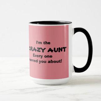 Verrückte Tante Mug Tasse