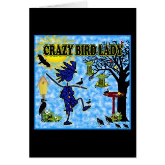 Verrückte Vogel-Dame Design Karte
