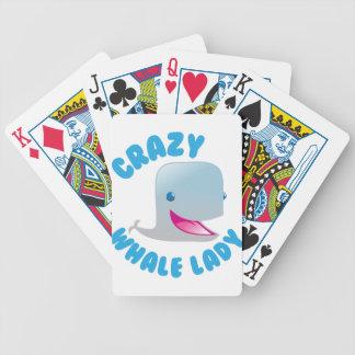 verrückte Waldame Bicycle Spielkarten
