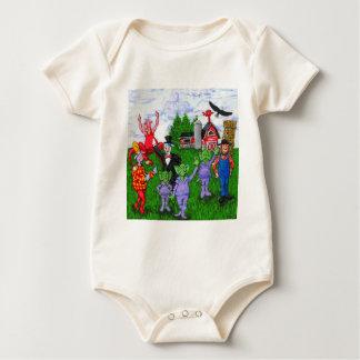 Verrückte Wisconsin-Kühe Baby Strampler