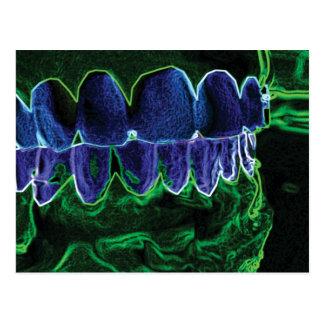 Verrückte Zahn-vorbildliche Postkarte