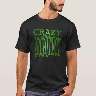 Verrückter Architekt im Grün T-Shirt