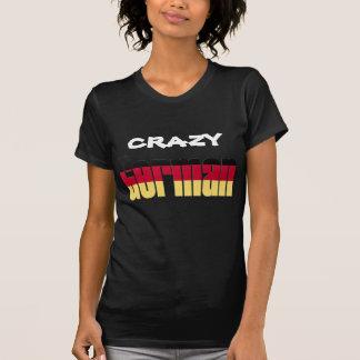 Verrückter Deutscher T-Shirt