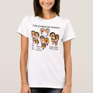 Verrückter Familien-Wiedersehen-Spaß-Cartoon T-Shirt
