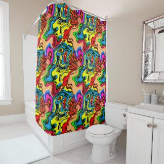 Verrückter Farbduschvorhang Duschvorhang