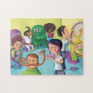 Verrückter Friseur-Saal Foto Puzzles