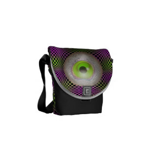 Verrückter grafischer Druck des Augen-Planeten-M13 Kurier Tasche