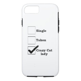 verrückter Katzendame iPhone 7 Fall iPhone 8/7 Hülle