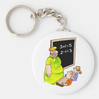 Verrückter Lehrer Standard Runder Schlüsselanhänger