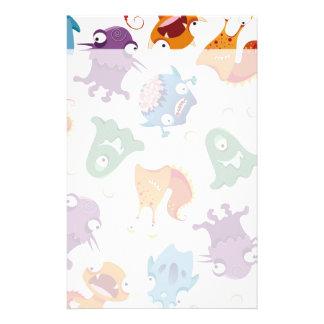 Verrückter Monster-Spaß-bunte Muster für Kinder Büropapier