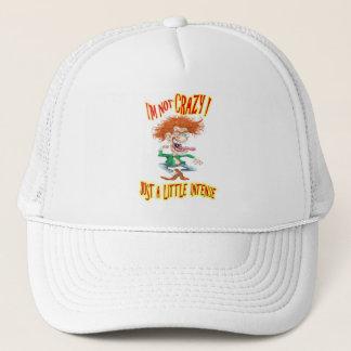 Verrückter Redhead mit lustigem Sprichwort Truckerkappe