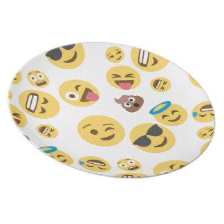 Verrückter smiley Emojis Teller