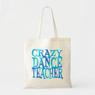 Verrückter Tanz-Lehrer Budget Stoffbeutel