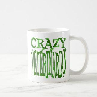 Verrückter Tierarzt im Grün Kaffeetassen