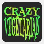 Verrückter Vegetarier Quadratsticker