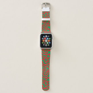 Verrückter WeihnachtsKlecks u. -Squiggle Apple Watch Armband