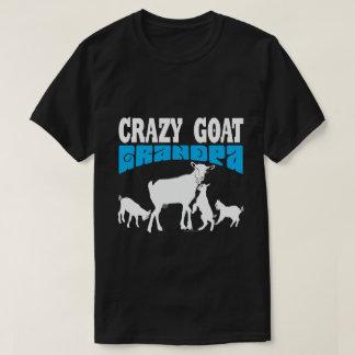 Verrückter Ziegen-Großvater blaues GYG ZIEGE T-Shirt