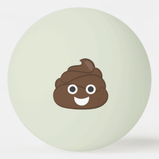 Verrücktes albernes Brown kacken Emoji Ping-Pong Ball