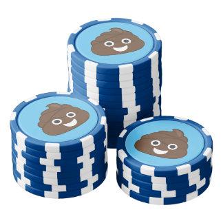 Verrücktes albernes Brown kacken Emoji Poker Chips Set