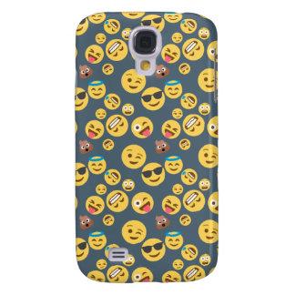 Verrücktes Emoji Muster (grauer Hintergrund) Galaxy S4 Hülle