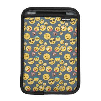 Verrücktes Emoji Muster (grauer Hintergrund) iPad Mini Sleeve
