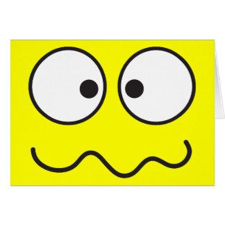 Verrücktes geisteskrankes Smileykreuz mit Augen Karte