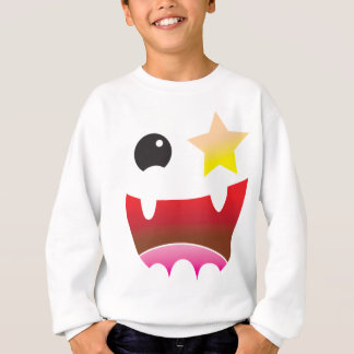 verrücktes Gesicht mit Sternauge Sweatshirt