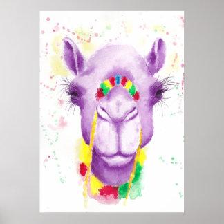 """Verrücktes Kamel 20"""" x 16"""", Plakat-Papier (Matt) Poster"""