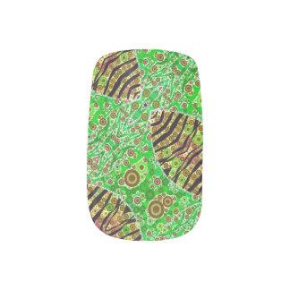 Verrücktes Leuchtstoffabstraktes Minx Nagelkunst