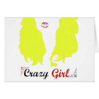 Verrücktes Mädchen Karte
