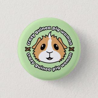 Verrücktes Meerschweinchen-Frauen-Knopf-Abzeichen Runder Button 3,2 Cm
