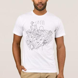 verrücktes Stadtt-shirt T-Shirt