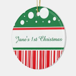 Verrücktes Weihnachten Keramik Ornament