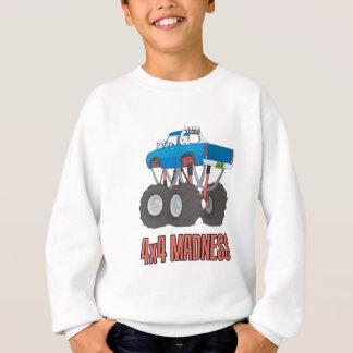Verrücktheit 4x4: Hoch angehobener Monster-LKW Sweatshirt